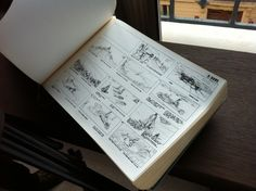 """'DUNE' - A thick, bound, pitch-book was given to movie studios containing storyboard art by Jean Giraud (Moebius). - 1974, director Alejandro Jodorowsky attempted to create a big-screen adaptation of Frank Herbert's science fiction novel """"Dune."""" #Moebius created incredible concept sketches and storyboards, for the whole screenplay of the film, at that time."""