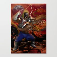 Giant Monkey vs Shen long Canvas Print  @pointsalestore Society6 #canvasartprint #canvas #print #painting #digital #oil #popart #streetart #cartoons #comic #dragonball  #dragaonball #vegeta #sungoku #songohan #gorilla  #ape #shenron #supersaiyan #saiyan #sungokong #dragon #cobrakai #chimpanzee #dragonballsuper