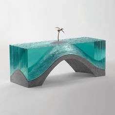 Deserted Print by Ben Young on What Drops Now Resin In Wood, Epoxy Resin Art, Concrete Sculpture, Resin Sculpture, Organic Glass, Making Glass, Resin Furniture, Diy Resin Crafts, Fused Glass Art
