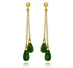 Peridot Dangle Earrings. elegant. not overwhelming. love it.