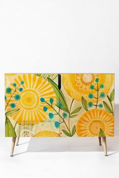 Cori Dantini Sun Burst Flowers Credenza | DENY Designs Home Accessories