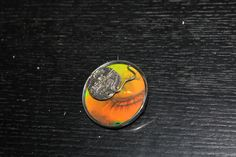 Pendant/Brooch, Silver 925/-, Hologram, Titel Time is watching You
