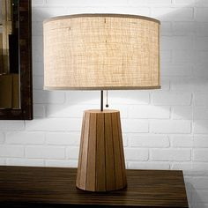 STOOLEN LAMP  19D X 26H  Stoolen/puzzle finish: walnut, ebony walnut, mixed dark, mixed light, cherry, antique pine  Bill Hilgendorf