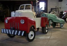 Hand Fabricated Pedal Car Tow Truck at Lucky's Auto Body in Hellertown, PA