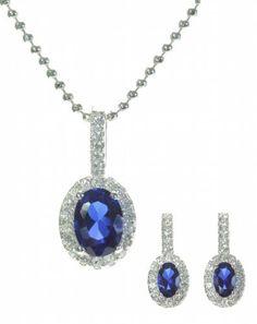 925 Sterling Silver Women Heart Earrings + Pendant with Cubic Zirconia/CZ - 46cm*17mm*8mm Argenti di Lusso. $74.79