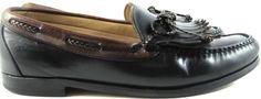 Allen Edmonds Woodstock Men Shoes Leather Loafers Size 10.5 D Black Brown Tassel #AllenEdmonds #LoafersSlipOns