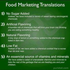This is what processed food labels really mean. Health And Nutrition, Health Tips, Health And Wellness, Health Fitness, Holistic Wellness, Health Facts, Nutrition Tips, Holistic Nutritionist, Fitness Tips