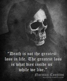 Norman Cousins quote on death.