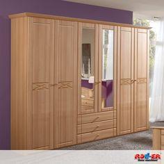 Drehtürenschrank PALOMA: Attraktives Komfort-Schlafzimmerprogramm in klassischem Design mit viel Stauraum. - Maße: B/H/T ca. 270/220/58 cm  Zum Artikel: http://www.roller.de/drehtuerenschrank-paloma/000424008000/
