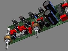 tda2030 2.1 subwoofer estereo op amp 450x337 Amplificador de áudio Com Subwoofer 2.1 TDA2030 NE5532 circuito audio circuito circuito amplificador