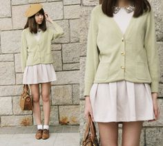 Lovely green (by Cecilia Chan) http://lookbook.nu/look/3085051-lovely-green