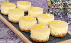Portion Lemon Cheesecake Recipe, How To? Lemon Cheesecake Recipes, Cheesecake Bites, Chocolate Cheesecake, Pumpkin Cheesecake, Cheesecake Decoration, Christmas Cheesecake, Recipe Sites, Turkish Recipes, Just Desserts