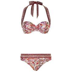 Gottex Moulded Multi-Way Print Bikini (6 610 UAH) ❤ liked on Polyvore featuring swimwear, bikinis, hipster bikini, bikini swim wear, neck ties, gottex swimwear and bikini swimwear