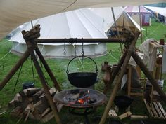Like the addition of the skulls.Medieval 2011 23 by ~Dragoroth-stock Viking Camp, Viking Life, Viking Tent, Bushcraft Camping, Camping Survival, Larp, Decoration Pirate, Yurt Living, Grandeur Nature
