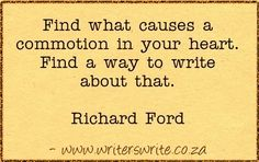 Quotable - Richard Ford