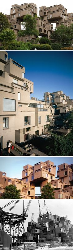 This Brutalist building looks like an urban Brazilian favela with the way it spreads all over the place creating a 3D landscape of buildings. Designed by renowned Israeli/Canadian Architect Moshe Safdie, the Habitat 67 is now considered one of Montreal's finest pieces of architecture, and a Canadian National Heritage Site.