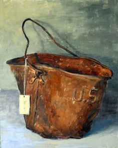 Rusty bucket love the raised letters USA