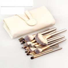 Find More Makeup Brushes & Tools Information about 12/18/24pcs/set Pro Makeup Brushes Set Foundation Blending Powder Eyeshadow Contour Concealer Blush eyebrow brush champagne,High Quality makeup brush set,China brush set Suppliers, Cheap pro makeup brushes set from Gretel Intercontinental Trade Corporation on Aliexpress.com