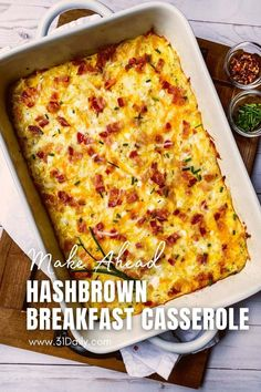 40 minutes · Serves 12 · This Hashbrown Breakfast Casserole is an easy and delicious casserole, perfect for a weekend brunch, holiday morning, or simply to make ahead for the week. This savory breakfast casserole is packed… More Breakfast Meat, Best Breakfast Recipes, Breakfast Time, Brunch Recipes, Frozen Breakfast, Brunch Ideas, Easter Recipes, Hashbrown Breakfast Casserole, Most Delicious Recipe