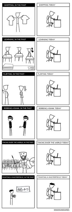 Illustration d'une certaine réalité de l'ère informatique