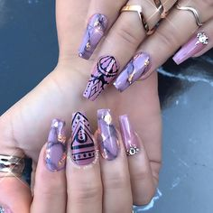 """1,429 Likes, 16 Comments - ✨LUXURY NAIL LOUNGE✨ (@glamour_chic_beauty) on Instagram: """"✨ Royal Empress ✨ Glitter supplied by @glitter_heaven_australia #glamourchicbeauty #glamourchic…"""""""