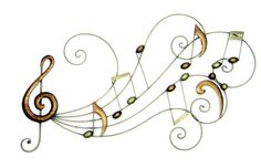 CONTEMPORARY 'MUSICAL NOTES' METAL WALL ART
