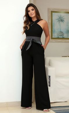 Trina Turk 'Kirstyn' Stretch Jumpsuit available at Cool Outfits, Casual Outfits, Denim Fashion, Womens Fashion, Fashion Fashion, Jumpsuit Outfit, Casual Chic, Dress To Impress, Editorial Fashion