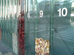 Art On Tokyo's Construction Fences - recycling rates on site displayed so the public can see