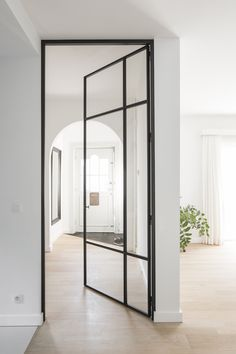House Design, Bathroom Interior Design, Marble House, Aluminium French Doors, Doors Interior, House Interior, Living Room Door, Hallway Designs, Glass Doors Interior