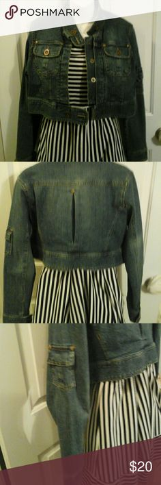 Miss Lili crop denim jacket Perfect with anything. miss Lili  Jackets & Coats Jean Jackets