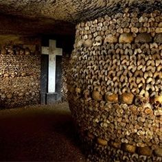 See the dark history buried beneath the city in the Paris catacombs. It is estimated that there are over 6 million people in the ossuary. Entrance: 14th arrondissement.