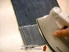 Turning Jeans into Capri Pants Tutorial - I have lots of pants that are just a liiiiittle too short. This Turning Jeans into Capri Pants Tutorial - I have lots of pants that are just a liiiiittle too short. This is perfect. Sewing Hacks, Sewing Tutorials, Sewing Patterns, Sewing Tips, Sewing Ideas, Fabric Crafts, Sewing Crafts, Sewing Projects, Diy Projects