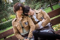 """"""" Throwback to my old Eren cosplay from AkiCon (October 📸 by Foto Geek 💚🔰💙 Military Jacket, October, Happy Birthday, Geek Stuff, Cosplay, Manga, Anime, Happy B Day, Geek Things"""
