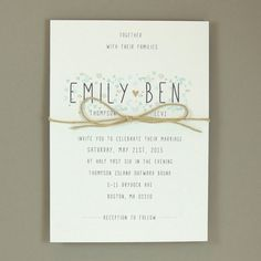 Emily Suite  Wedding Invitation by JPstationery on Etsy