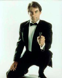 Timothy Dalton as James Bond Dalton James, Timothy Dalton, James Bond Characters, James Bond Movies, Detective, George Lazenby, Licence To Kill, Spy Who Loved Me, Roger Moore