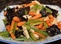 Stir fried earwood mushroom with chicken and vegetables - Life Bites