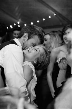 Very simple yet powerful moment captured out on the dance floor amongst all the other revelers...its still just you and him.