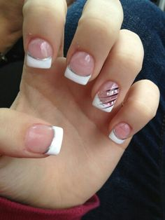 acrylic french nail tips - Nail Tip Designs Ideas