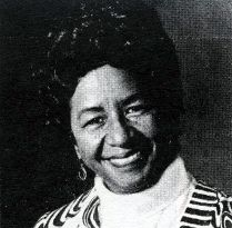 Vintage photograph of Lois K. Alexander, founder of the legendary Harlem Institute of Fashion (opened in 1966) and the Black Fashion Museum (in 1979).