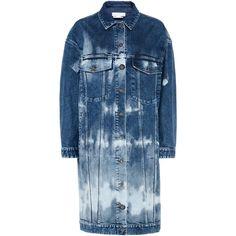 Stella McCartney Malori Denim Jacket (3.415 BRL) ❤ liked on Polyvore featuring outerwear, jackets, blue denim, blue jackets, tie dye jean jacket, long jean jacket, long sleeve jacket and stella mccartney