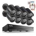 SANNCE 8CH 1080N DVR Outdoor Video Night Vision Home CCTV Security Camera System
