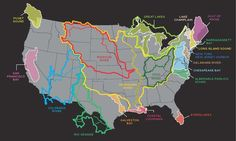America's Great Waters Map: