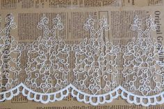 Cotton Lace Trim White Embroidered Lace Super by DiyWholesaleMall
