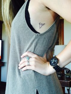 Shark Tooth tattoo. Small & Simple tattoos.