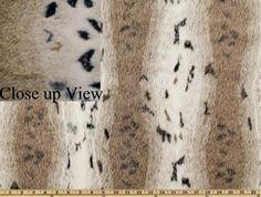 Snow Lynx Faux Fur fabric.