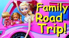 Frozen Dolls Barbie RV Camper Road Trip Disney Princess Elsa, Barbie