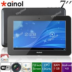 """(AINOL) NOVO7 Mars 7"""" Capacitive Touchscreen Android 4.0 8GB Tablet Flat PC with Camera (CPU 1GHz/ RAM 1GB) L-85445"""