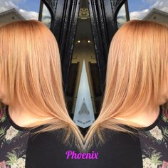 Colour correction after the dreaded colour b4  we got a beautiful rose gold