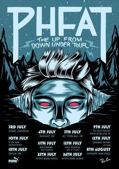 PHFAT - Up From Down Under Tour by Ian Jepson, via Behance