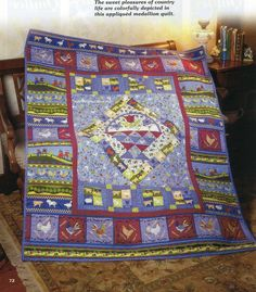 Country Life Quilt Pattern Pieced/Applique ME
